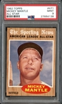 1962 Topps #471 Mickey Mantle All Star PSA 9 MINT