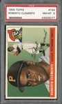 1955 Topps #164 Roberto Clemente PSA 8 NM/MT