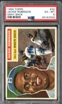 1956 Topps #30 Jackie Robinson Gray Back PSA 6 EX/MT