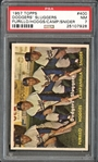 1957 Topps #400 Dodgers Sluggers Furillo/Hodges/Camp/Snider PSA 7 NM