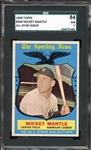 1959 Topps #564 Mickey Mantle All-Star High # SGC 84 NM 7