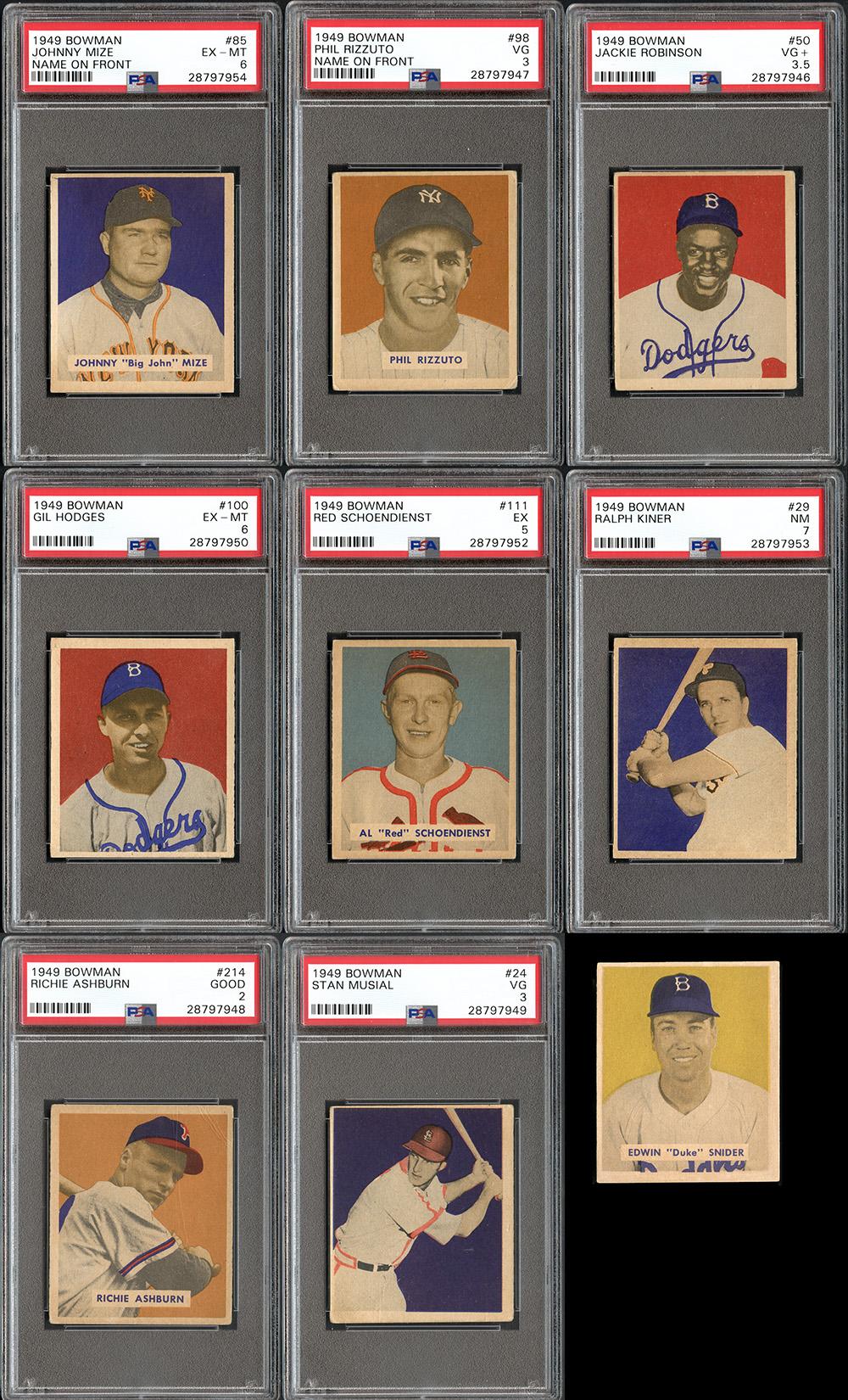 Lot Detail 1949 Bowman Baseball Near Complete Set