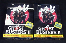 1989 Topps Ghostbusters 2 Full Unopened Wax Box Group of (2)