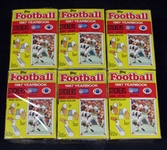 1987 Topps Football Yearbook Stickers Full Unopened Wax Box Group of (6)