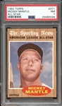 1962 Topps #471 Mickey Mantle All Star PSA 7 NM