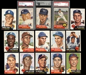 1953 Topps Near Complete Set (272/274) with PSA 3 Mantle