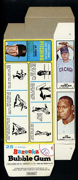 Lot Detail 1968 Bazooka Complete Box Featuring Mickey Mantle