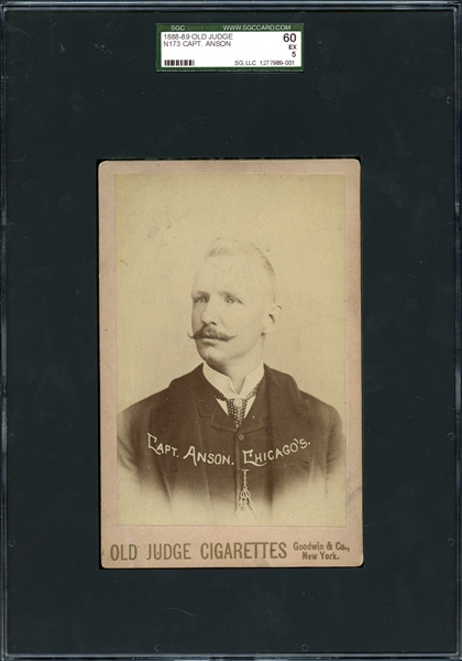 1888-89 Old Judge N173 Cap Anson Cabinet SGC 60 EX 5