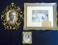 Group of (3) Framed Personal Photographs of Jim Bottomley and Wife