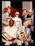 1974 Hall of Fame Induction Ceremony Photograph Featuring Mantle, Bell, Conlon, Ford, and Mrs. Jim Bottomley