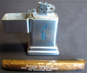 Jim Bottomleys Personal Engraved Lighter with Wrapped Cigar and Diamond Matchbooks