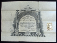 Jim Bottomleys A.A.S.R. Freemasonry Certificate From 1929