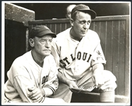 Jim Bottomley and Gabby Street St. Louis Browns Type I Original Photo in Dugout