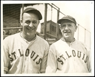 Jim Bottomley and Gabby Street St. Louis Browns Type I Original Photo
