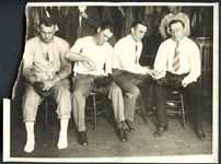 Jim Bottomley and 3 Others Type I Original International Newsreel Photo