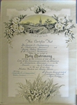 Mr. and Mrs. James L. Bottomley Ceremonial Marriage Certificate