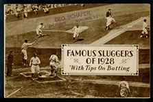 Famous Sluggers of 1928 Booklet Belonging to Jim Bottomley and Sold in his Hometown of Nokomis IL