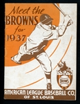 1937 St. Louis Browns Media Guide Belonging to Jim Bottomley