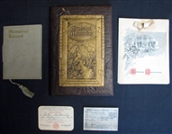 Jim Bottomleys Father John Bottomleys Personal Items Including Marriage Certificate