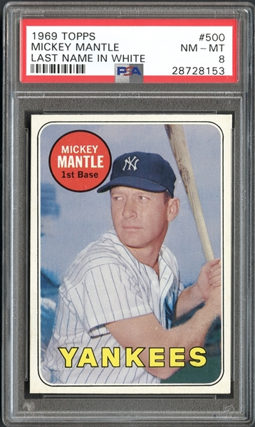 Lot Detail 1969 Topps 500 Mickey Mantle Last Name In
