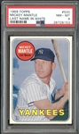 1969 Topps #500 Mickey Mantle Last Name in White PSA 8 NM/MT