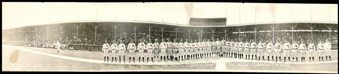 1921 Houston Buffaloes vs Galveston Pirates Opening Day Panoramic Photo Featuring Jim Bottomley From the Jim Bottomley Collection