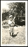 Photo of Jim Bottomley as Child in Uniform with Bat