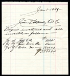 Jim Bottomley Oil Company Ledger Written in his Hand