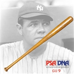 "1929-30 George ""Babe"" Ruth Professional Model H&B Louisville Slugger Game-Used Bat PSA/DNA GU 9 with Provenance Indicating It Was Used for 3 Home Runs"