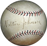 Walter Johnson Single-Signed OAL Ball PSA/DNA and JSA