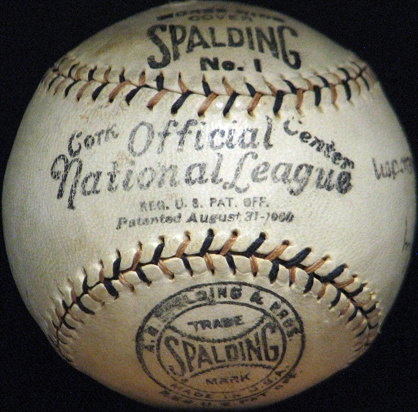 Spectacular Christy Mathewson Single-Signed ONL Ball JSA and Beckett-The Finest Single-Signed Mathewson Ball Known to Exist!