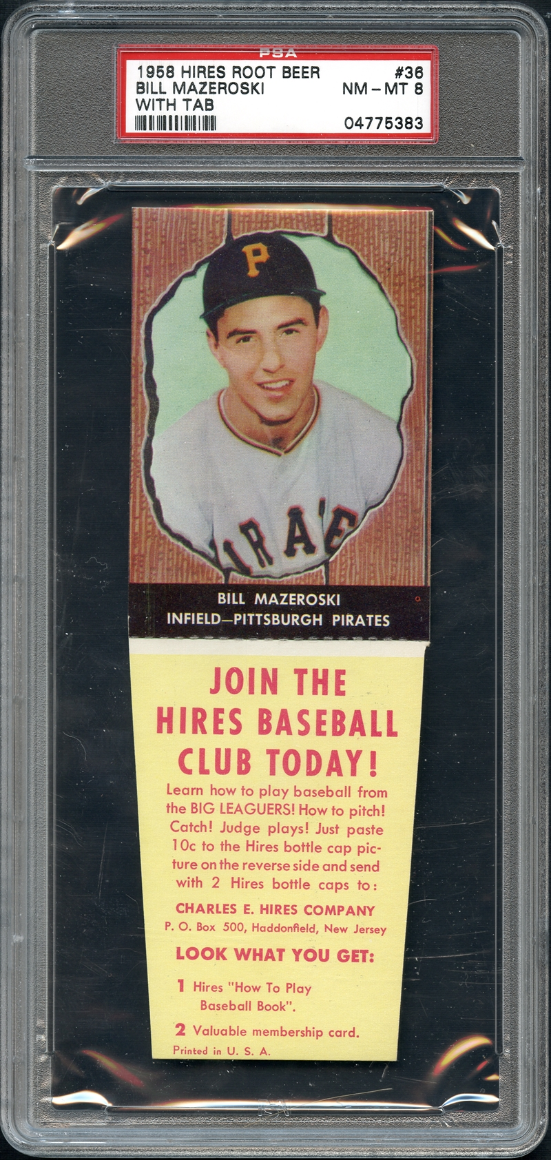 Lot Detail 1958 Hires Root Beer 36 Bill Mazeroski With