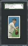 1909-11 T206 Sweet Caporal 350/30 Hal Chase, Throwing, Dark Cap SGC 60 EX 5