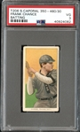 1909-11 T206 Sweet Caporal 350-460/30 Frank Chance Batting PSA 3 VG