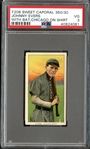 1909-11 T206 Sweet Caporal 350/30 Johnny Evers, With Bat, Chicago on Shirt PSA 3 VG