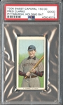 1909-11 T206 Sweet Caporal 150/30 Fred Clarke, Pittsburgh, Holding Bat PSA 2 GOOD
