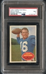 1960 Topps Football Cello Pack Frank Gifford Top PSA 7 NM