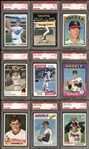 1970-1994 Topps Nolan Ryan Near-Complete Player Set (25/27) All PSA Graded