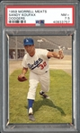 1959 Morrell Meats Sandy Koufax PSA 7.5 NM+