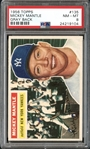 1956 Topps #135 Mickey Mantle Gray Back PSA 8 NM/MT