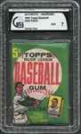 1962 Topps Baseball Wax Pack Series One 5 Cent GAI 7 NM
