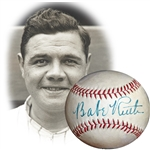 Spectacular Babe Ruth Single-Signed Baseball