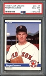 1984 Fleer Update #U27 Roger Clemens PSA 10 GEM MINT