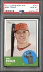 2012 Topps Heritage #207 Mike Trout PSA 10 GEM MINT