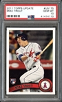 2011 Topps Update #US175 Mike Trout PSA 10 GEM MINT