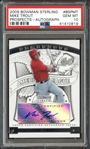 2009 Bowman Sterling #BSPMT Mike Trout Prospects Autograph PSA GEM MINT 10