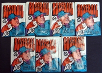 1972 O-Pee-Chee Baseball Unopened Wax Pack Group of (7)
