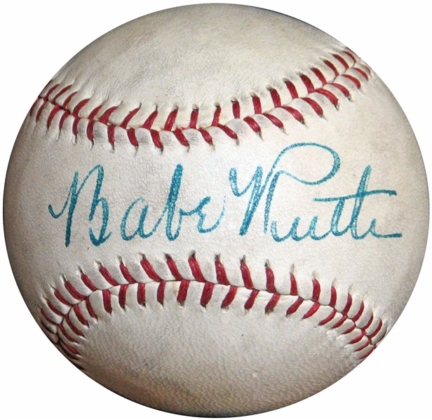 Single Signed Babe Ruth Baseball