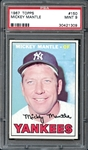 1967 Topps #150 MICKEY MANTLE PSA 9 MINT