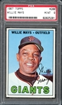 1967 Topps #200 WILLIE MAYS PSA 9 MINT